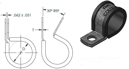 KMC Tab Drawing COL Clip